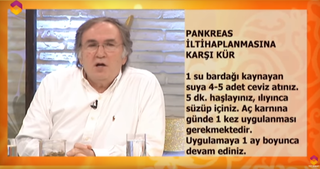 ibrahim saraçoğlu pankreas iltihabı tedavisi