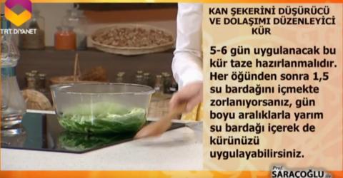 İbrahim Saraçoğlu şeker hastalığı için lahana kürü