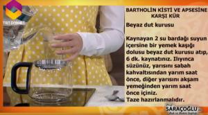 Bartholin kisti bitkisel tedavi