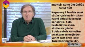 Bronşit tedavisi ibrahim Saraçoğlu