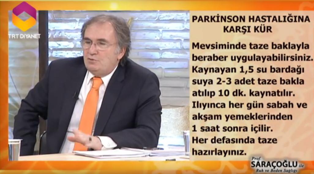 ibrahim saraçoğlu parkinson